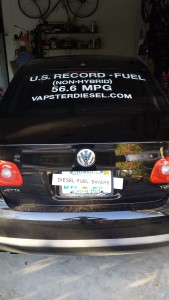 U.S. Record set for Non-Hybrid and Non-Hypermiling Diesel